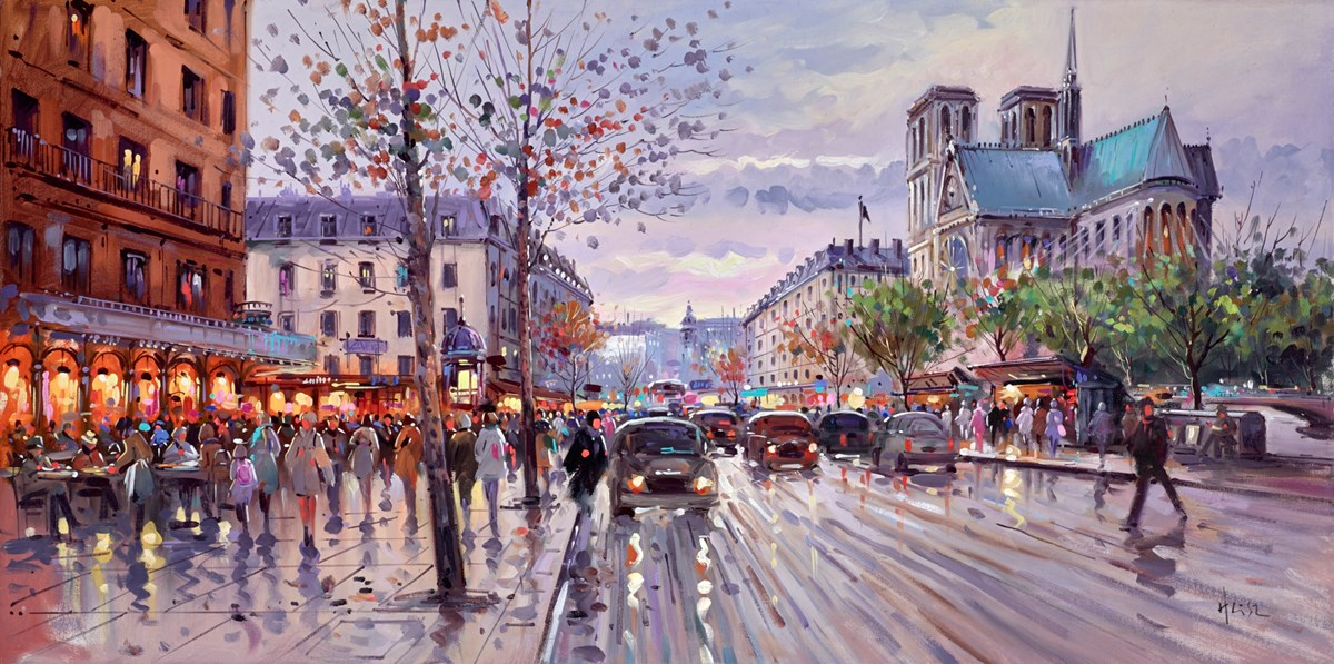 Past the Cathedral by henderson cisz -  sized 40x20 inches. Available from Whitewall Galleries
